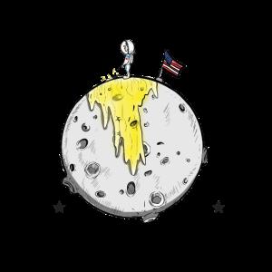 Mondlandung Jubiläum Apollo 11 Gelber Mond Shirt
