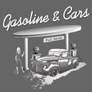Vintage Car an Tankstelle