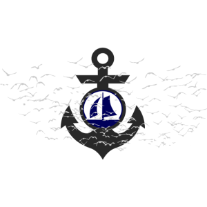 Vogelschwarm Anker Segelboot Segelschiff Seemann