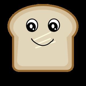 Toast Brot mit Gesicht Geschenk