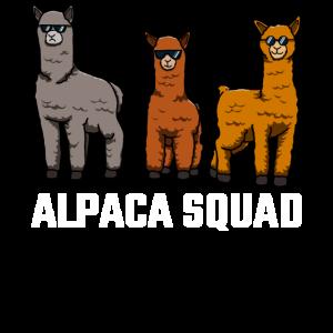 Alpaka Squad Lama Liebhaber Geschenke Wortspiel