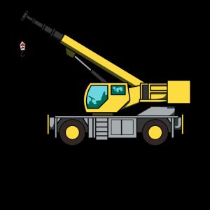 Kran Kindergeburtstag Konstruktion Kranfahrer