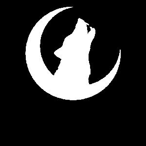 Werwolf Halbmond Mond T-Shirt Gothic Tier Design