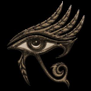 Auge des Horus mit Federn, Ägypten, Schutz Symbol