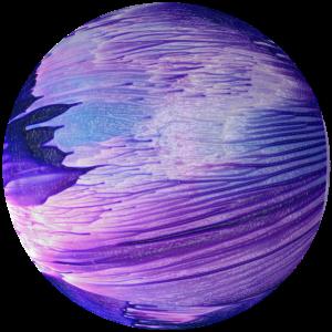 Blauer Planet cosmic galaxy by patjila