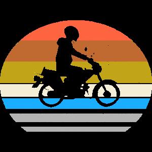 Moped Mofa Retro Style - Mopedfahrer