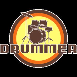 Schlagzeuger Schlagzeug Drummer - Retro Style