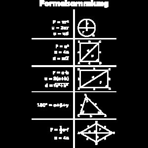 Mathe Formeln Formelsammlung Design Shirt Geschenk