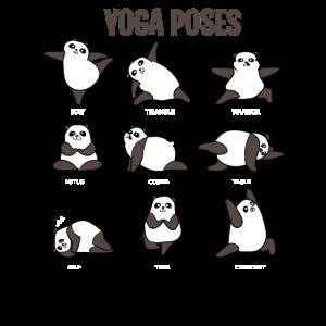 Panda Yoga Bär Buddhismus Posen Zen Yang Geschenke