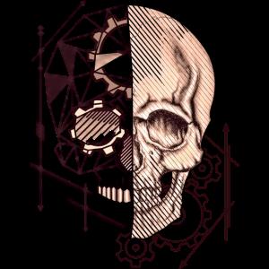 SKULL Steampunk Polygon