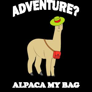 Abenteuer? - Ich pack meine Tasche! Alpaka Idee