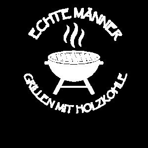 Echte Männer Grillen Mit Holzkohle