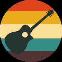 Gitarre Sommerfarben Gitarrist Musik Instrument