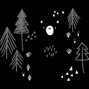 Bär tief im Wald
