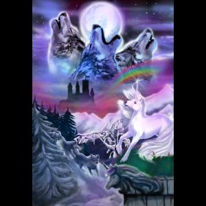 Wölfe und Einhorn