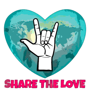 share the love handzeichen cool lustig shape