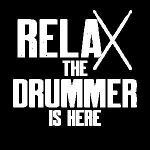 Relax Drummer Schlagzeuger Spruch Geschenk