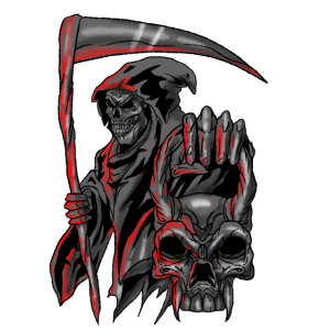 Reaper Dark Skeleton Angel of Death Skull Gift