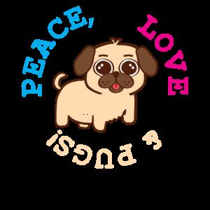 Mops Haustier Frieden Liebe
