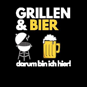 Grillen & Bier Grill Spruch Grillbesteck Alkohol