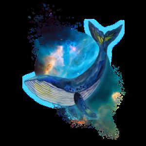 Wal - Galaxie - Aquarell
