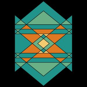 Minimales geometrisches Design bunt Geschenkidee