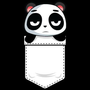 Mir ist langweilig Panda Brusttasche süß Geschenk