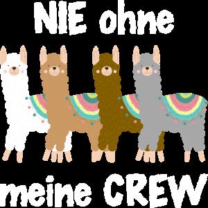 Nie ohne meine Crew Team Lama