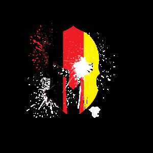 Belgien Fahne Sparta Helm