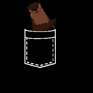 lustiges Taschentier der Otter