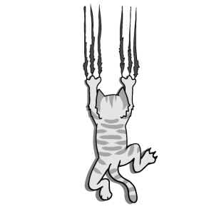 Verrückte Psycho Krallen Katze Haustiere Wild Cat