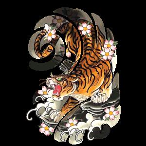 Japanischer Tätowierungs-Art-Tiger Traditional