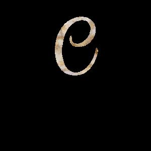 Entwurf des Rosen-Goldmarmormonogramm-Alphabet-Buchstaben C
