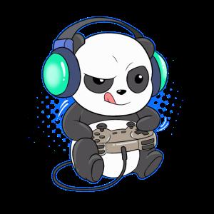 Panda Bär Gaming Videospiel Gamer Computer Konsole