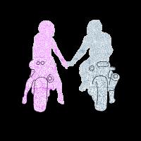 motorcyclist couple