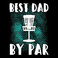 Discgolf Best Dad By Par Frisbee Disc Golf Vater