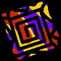 Eckige Spirale