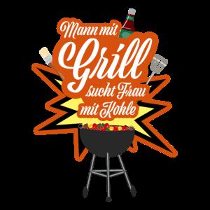 BBQ Grillen - Mann mit Grill sucht Frau mit Kohle