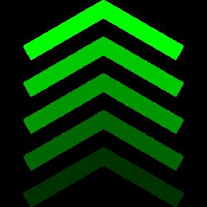 Grüne Balken Futuristisch Shirt Design Geschenk