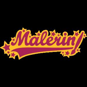 Malerin (Schriftzug)