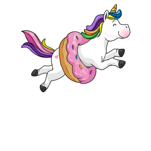 I donut care Geschenk Einhorn Süßigkeiten Gebäck
