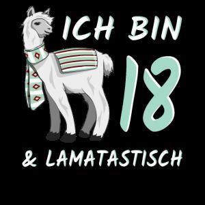 18. Geburtstag Lama Geschenk 18 Jahre lamatastisch