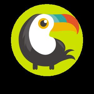 Girls Boys Toucan Cartoon Tropical Bird