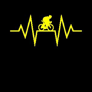 Radfahrer Heartbeat Radeln Herzschlag Radfahren