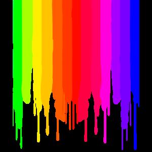 LGBTQ tropfender Regenbogen