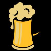 Bier Zeichnung Alkohol trinken Schaum 2503