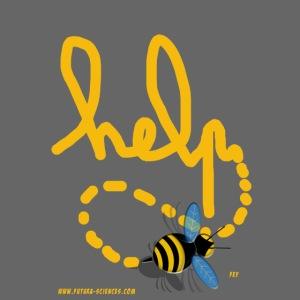 Help abeille texte jaune
