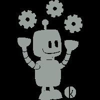 Fröhlicher Roboter - Happy Robot