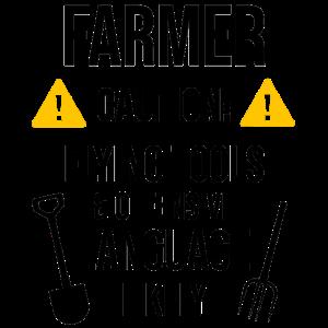 Bauer Bauernhof Landwirt Mistgabel Geschenk