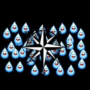 Windrose Regentropfen Regen Sturm Nautik